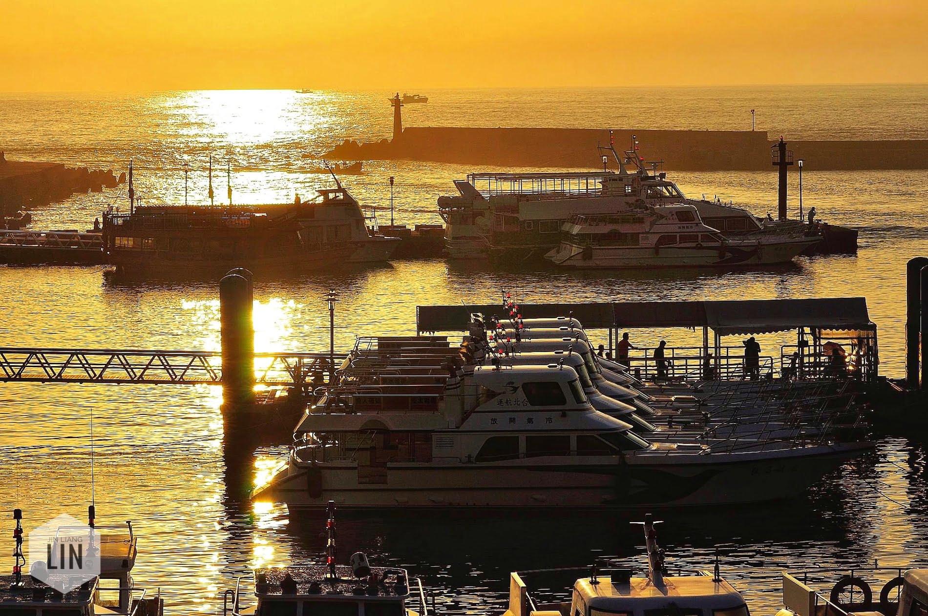 黃金夕陽丨淡水漁人碼頭金色水岸